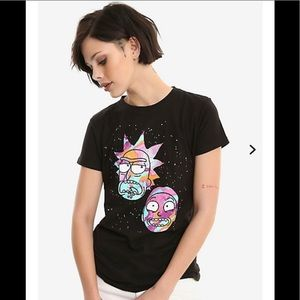 🚀 Rick and Morty Black faces cotton T-shirt new